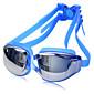 ZHENYA Goggles Πισίνα Uniseks Anti-Magla / Vodootporno / Podesiva veličina / Anti-UV silika gel PC / UV Sive boje / Crn / PlavSive boje /