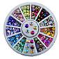 12colours ogival základna drahokamu hřebík šperky dekorační točna hřebík nástroj
