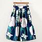 Vintage Ženski Suknje-Midi,Mikroelastično Pamuk