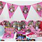 高級ソフィア78pcsの誕生日パーティーの装飾の子供たち6人が使うパーティー用品パーティーの装飾をevnent