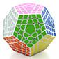 Shengshou® スムーズなスピードキューブ メガミンクス プロフェッショナルレベル ストレス解消 マジックキューブ 黒フェード アイボリー プラスチック