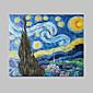 Ručně malované Abstraktní / Slavné Jeden panel Plátno Hang-malované olejomalba For Home dekorace