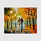 Ručně malované Krajina / Lidé / Květinový/Botanický motiv olejomalby,Moderní Jeden panel Plátno Hang-malované olejomalba For Home dekorace
