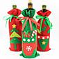 Božićni ukrasi nova boca skup šampanjac vino poklon vrećice bombona torba božićnih proizvoda boji slučajnih
