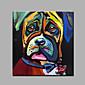手描きの 抽象画 / 動物 油彩画,Modern 1枚 キャンバス ハング塗装油絵 For ホームデコレーション