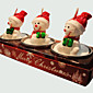 Božić svijeća slatka snjegović 3pcs oblik