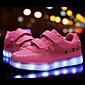 Tenisky-Kůže-Pohodlné První botičky Light Up boty-Dívčí-Černá Růžová Bílá-Outdoor Atletika Běžné-Nízký podpatek
