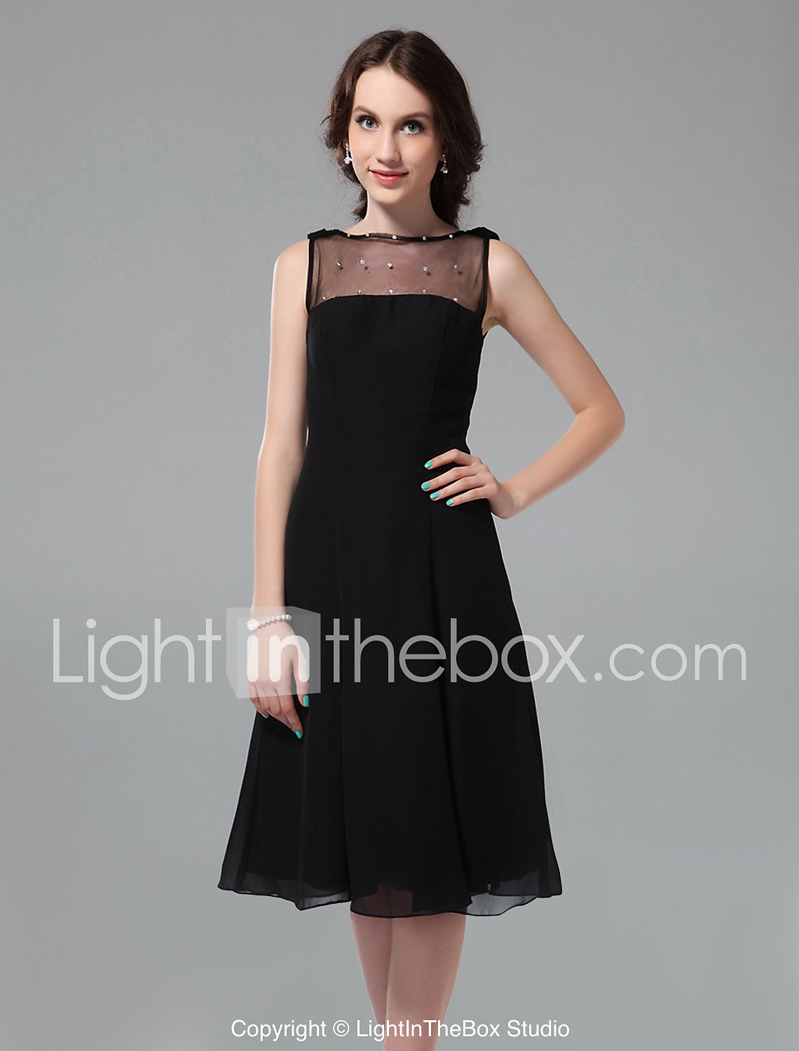 TS Couture® Cocktail Party / Holiday Dress - Little Black Dress ...
