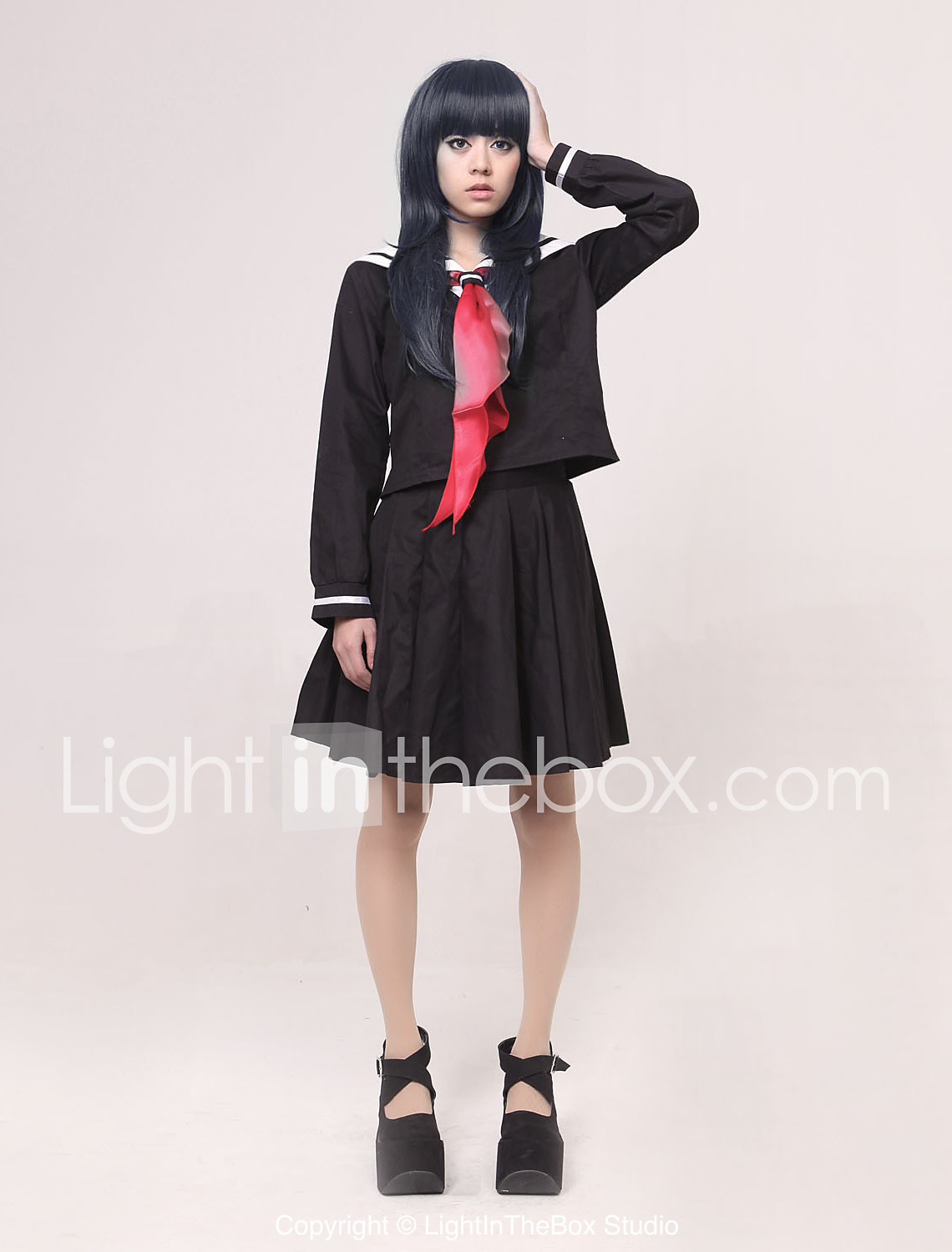 Inspired by Hell Girl Ai Enma Anime Cosplay Costumes Cosplay Suits / School  Uniforms Patchwork Black