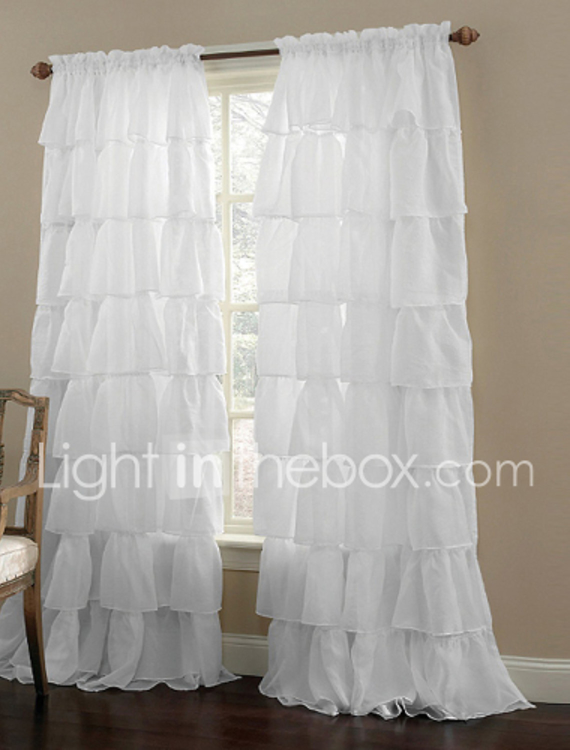 Sheer white bedroom curtains - One Panel Curtain Modern Solid Living Room Polyester Material Sheer Curtains Shades Home Decoration For